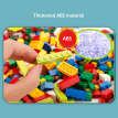 2-in-1 Multifunction Activity Table DIY Building Blocks Table Compatible Magnetic Writing Board Kids Educational Toys For Boy