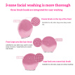 Facial Cleasing Tool Waterproof Face Cleansing Brush Adjustable Portable Electric Facial Washing Tool, Pink