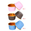 50pcs Cupcake Cups Disposable Muffin Liners Small Baking Cups Round Aluminum Foil Cake Desserts Trays Containers