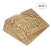 10pcs Pearl Paper Wedding Invitation Cards Hollow Happy Wedding Invitation Holders--Gold