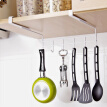Multifunctional Cabinet Under Hook Kitchen Storage Hanging Holder Shelf Home Storage Rack Nailless Hanging Organizer