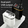 HOCO 5V2.4A 2 Ports USB Wall Fast Charging Charger EU US Plug Power LED display Adapter For iPhone X XS XS Max XR Samsung xiaomi
