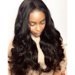 BOWIN Full Lace Wigs Brazilian Virgin Hair Body Wave 180% Density Human Hair Wigs Natural Color