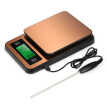 Digital Coffee Scale Multifunction Kitchen Food Scale with Timer Temperature Probe LCD Display Green Backlight 3000g/1g