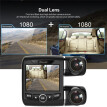 Dual Lens Dash Cam FHD1080P Front and Rear View Dash Cam 170° Inside and Outside