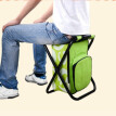 Folding stool portable ice pack stool  With a warm bag, you can carry a fishing stool, a beach chair, a light outdoor refrigerated