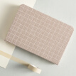 Sky small fresh hand book A6 Nordic plaid fabric this diary / Notepad / notebook / schedule this 2019 light coffee color TS-4017