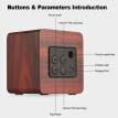 Q1 Mini Wooden Bluetooth Speaker Portable Wireless Subwoofer Strong Bass Powerful Sound Box Music Magic Cube for Smartphone Tablet