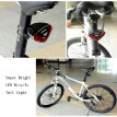 Cycling Bike Bicycle Super Bright Red 5 LED Rear Tail Light 4 Modes Lamp for Seatpost Rainproof