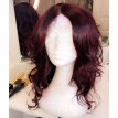 99J Dark Burgundy Red Virgin Human Hair Short Lace Wig Natural Wavy Glueless Lace Front Wig Plucked With Baby Hair For Black Women