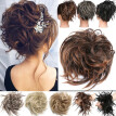 New Messy Hair Bun Elastic Hair Piece Ponytail Band Wrap Hair Extensions Updo Cover Chignon Puff Natural As Human kcuas
