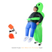Adults Green Ghost Inflatable Costume Props Blow Up Inflatable Fancy Dress for Halloween Cosplay Dress Up Party Stage Performance