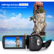 "Andoer HDV-Z82 1080P Full HD 24MP Digital Video Camera Camcorder with 0.39X Wide Angle + Macro Lens 3"" LCD Touchscreen Remote Cont"