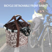 Bicycle Bike Detachable Cycle Front Canvas Basket Carrier Bag Pet Carrier Aluminum Alloy Frame Pet Carrier