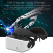 VIULUX V8 VR PC Helmet 3D Glasses Headset Game Movie Virtual Reality Headset PC Connected Head-mounted Display 2560*1440 73Hz Refr