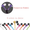 Sport Earphone Wired Super Bass 3.5mm Colorful Headset Earbud with Microphone Hands Zipper Design Waterproof