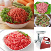 100-120V Brand New 300W Electric Meat Grinder Aluminium Alloy Household or Commercial Sausage Maker Meats Mincer Food Grinding Min