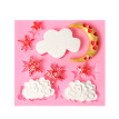1 Pcs Cake Molds Moon Stars Clouds Silicone Mold for Fondant Decorating Chocolate Cookie Soap Mould Baking Pastry Tools Random Col
