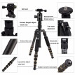 ZOMEI Z699C Carbon Fiber Portable Tripod with Ball Head Compact Travel for Canon,Sony, Nikon, Samsung, Panasonic, Olympus, Kodak,