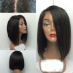 Lace Front Wigs For Black Women Brazilian Virgin Human Hair Short Bob Wigs Bleached Knots Straight Glueless Lace Wig