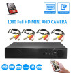 Security surveillance camera Ultra-small camera AHD 1080P with dvr night vision Mobile Remote View Playback Wired CCTV KIT