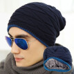 US Stock Men Women Warm Winter Wool Knit Ski Cap Skull Slouch Hat Hip-Hop Beanie