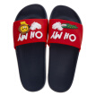 Colorful walking slippers men and women couple models sandals fashion trend pattern letters home bathroom outdoor beach fun animal models HM935 big red 37 yards