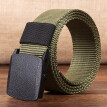 Canvas Belt for Men Outdoor Leisure Nylon Plastic Button Canvas Belt Knitted Trousers Belt