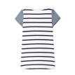 GAP flagship store female young youth cloth short-sleeved striped T-shirt dress 307214 navy blue stripes 4YRS