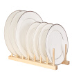 Multi-purpose Wooden Dish Rack Dishes Drying Drainer Storage Stand Holder Kitchen Cabinet Organizer for Dish/Plate/Bowl/Cup/Pot Li