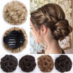 Elegant Chignon Clip in Hair Bun Extension Donut Claw Jaw Updo Synthetic Combs Curly Weave Hair Scrunchies
