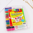 Korea East Asia (DONG-A) 12 color Amoy whiteboard pen children's color drawing board pen writing board writing notes graffiti pen 12 color installed BM520-12 imported
