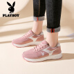 Playboy (PLAYBOY) sports shoes women's wild thick-soled leisure travel running 0894 pink 35