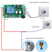 433Mhz DC 12V 1CH Universal 10A Relay Wireless Remote Control Switch Receiver Module and 1PCS 2 Key RF 433 Mhz Transmitter Remote