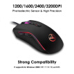HXSJ J100+A869 Keyboard Mouse Set 35 Keys Mini USB Wired 3200DPI 7 Buttons LED Optical Gaming Keyboard Mouse Combos for Desktop PC