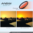 Andoer Professional 55mm GND Graduated Filter Set GND4(0.6) Gray Blue Orange Red Graduated Neutral Density Filter for Canon Nikon