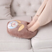 Warm coffee removable and washable plug warm foot treasure electric heating shoes electric hot treasure warm baby warm foot warmer light coffee NK-004