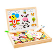 Fantastic Wooden Animal Magnetism Easel Drawing Board Jigsaw Blackboard Toy For Children Multifunctional Educational