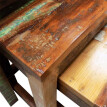 Nesting Table Set 3 Pieces Vintage Reclaimed Wood