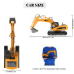 Original HUI NA TOYS 2.4GHz 15CH Engineering Electric Excavator Construction Truck RC Car Alloy Version