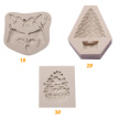 3D Christmas Theme Silicone Fondant Mold Cake Cookie Chocolate Dry Perth Sugar Coated Printing Decoration Molds Kitchen Baking DIY