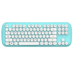 Mofii Candy Plus Wireless Bluetooth Dual Mode Keyboard Round Chocolate Button Office Home Apple Notebook Desktop Computer White Blue