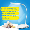 Folding rechargeable LED small table lamp eye-protection learning lamp students 3 touch adjustment