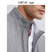 Virtue rich casual plaid collar men's jacket 2019 spring new business simple zipper pocket men's jacket J601B12 gray plaid 48