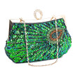 Women Beaded Sequin Peacock Evening Bag for Party Elegant Ladies Handbags Small Corssbody Bag Purse Clutch Bag for Daily