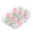 New Bee Replacement Earbud Tips 3 Pairs Rebound Memory Foam Tips & 3 Pairs Silicone Earbuds S M L Size w/ Storage Box for Headphon