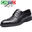 Cartier crocodile (CARTELO) British men's shoes suede leather shoes trend crocodile pattern workplace low to help tie business dress shoes men 8230 black 38