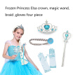 4Pcs/Set Princess Accessories Crown Wig Gloves Magic Wand Cosplay Toy Set for Kids Dress Party Girl Gifts