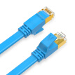 Shengwei (shengwei) seven types of network cable shielded line 10G engineering grade CAT7 pure copper network jumper computer broadband connector household finished line 0.5 m blue FLC-7005C