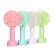 Portable Mini Handheld Fan with Stand Cradle USB Wind Blower 3 Speed Setting for Indoor and Outdoor Activities White